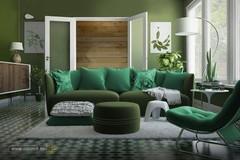 nuansa-hijau-ruang-keluarga